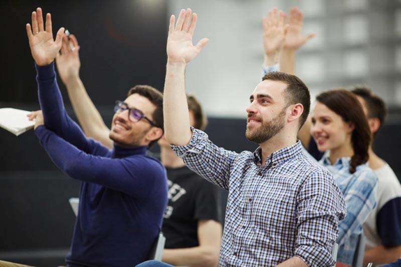 ارتباط و تعامل، پرسش و پاسخ در جلسه سخنرانی