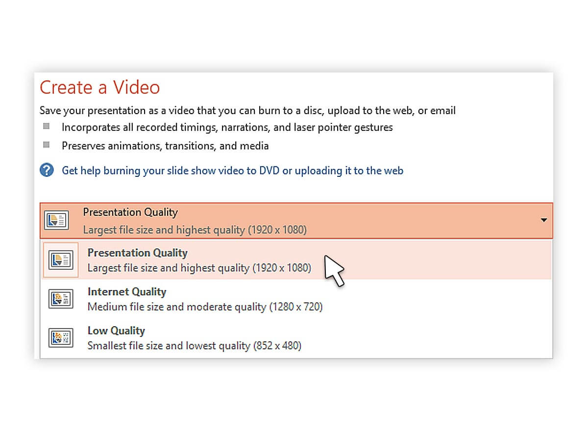 تبدیل فایل پاورپوینت به ویدیو -پرزنتا