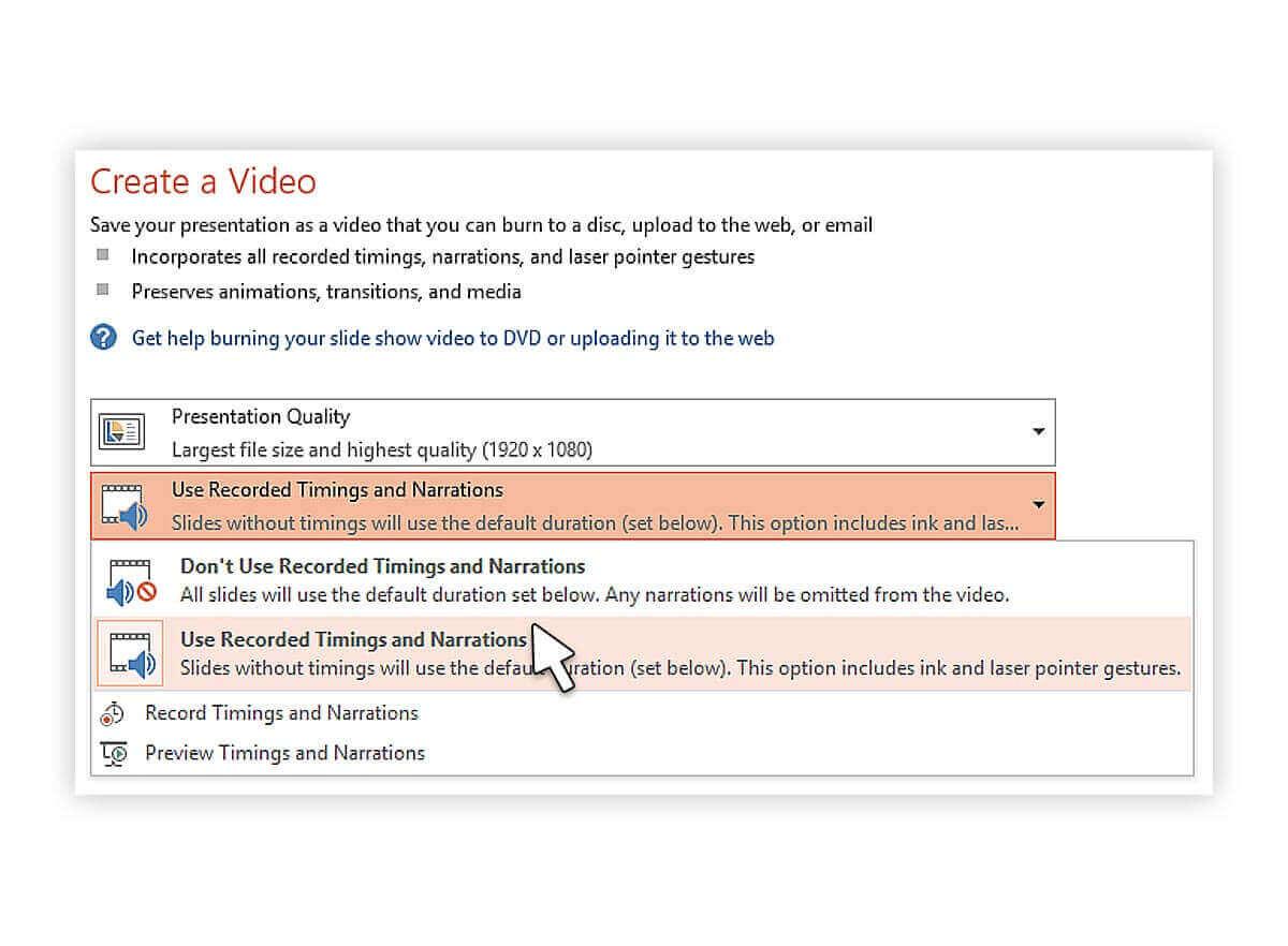 خروجی گرفتن ویدیو از پاورپوینت ۲۰۱۳