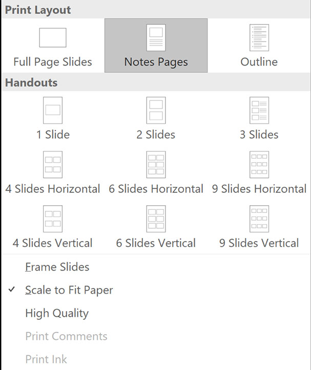 powerpoint-print-options