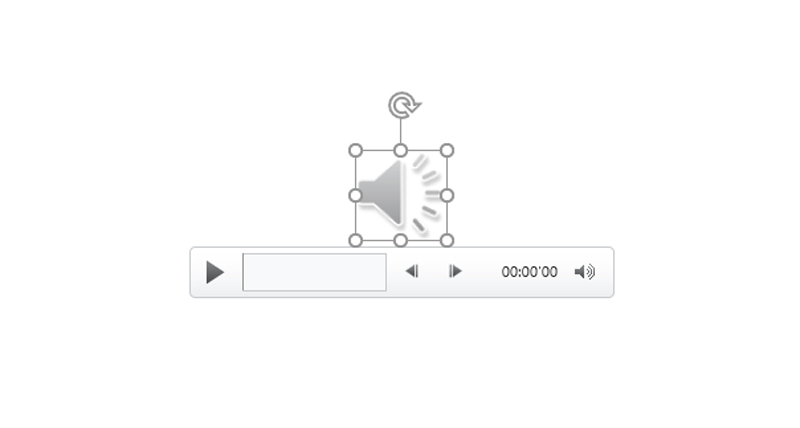 پخش فایل صوتی پاورپوینت