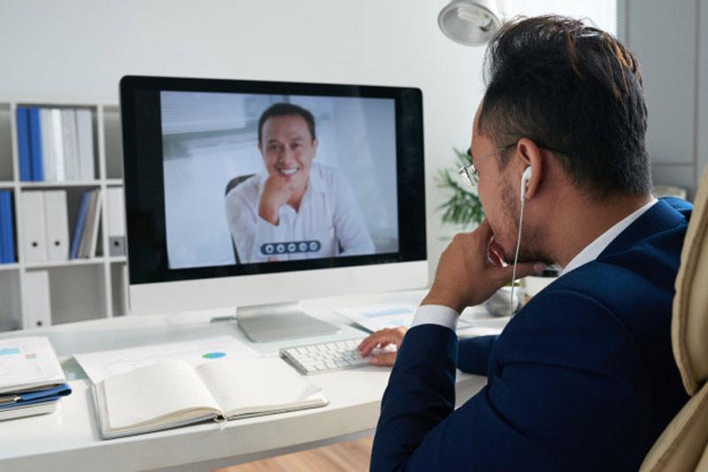 برگزاری-ارائه-آنلاین،دورکاری، ویدیو-کال
