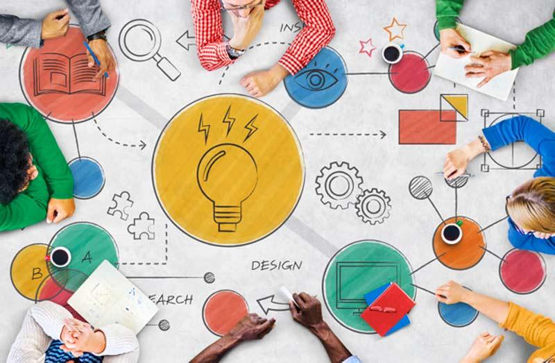 جلسه-طراحی-پرزنتیشن- همفکری-تیمی- بارش-فکری