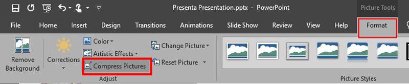 ترفند-طراحی-پاورپوینت-کم کردن حجم عکس
