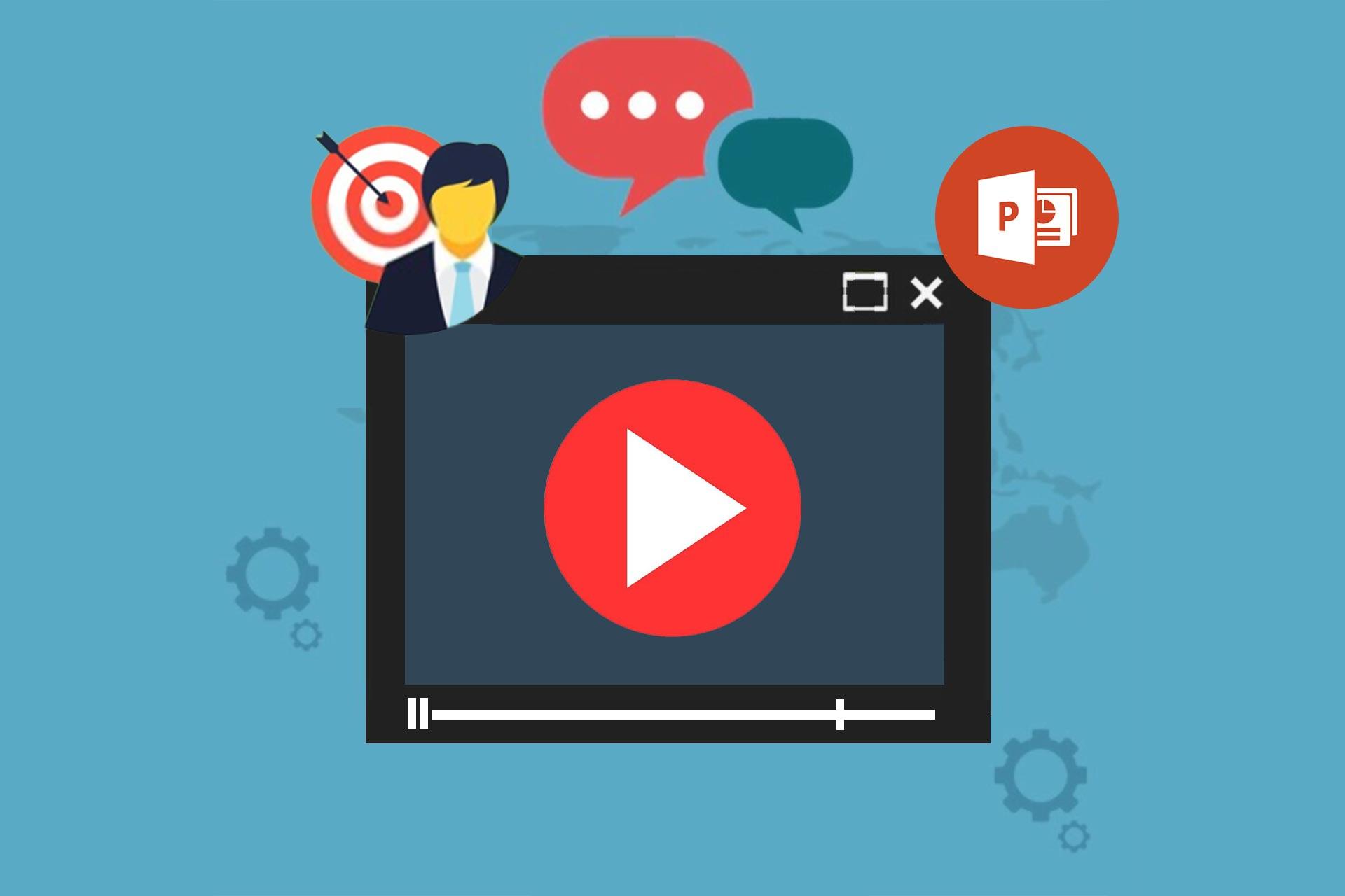 ساختن ویدیو با پاورپوینت برای فضای مجازی